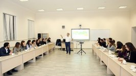 BP Vice President Bakhtiyar Aslanbayli conducts master class for MBA students at BHOS (PHOTO) - Gallery Thumbnail