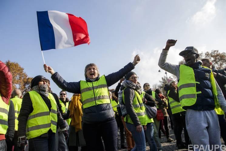 """Fransada """"sarı jiletlər"""" hərəkatının aksiyasında 23 mindən çox insan iştirak edib"""