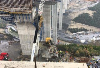 Bridge collapses in Turkey, people trapped under rubble