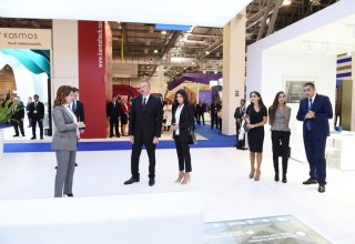 President Aliyev, First Lady Mehriban Aliyeva viewed Bakutel 2018 exhibition (PHOTO)