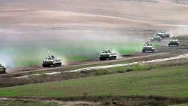 Azerbaijani army conducts live-fire exercises (PHOTO/VIDEO) - Gallery Thumbnail