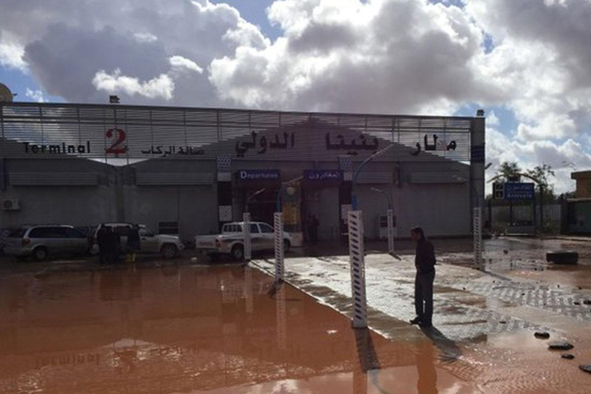 Airport flooded in Libya's Benghazi after heavy rain