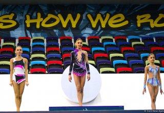 Прошла церемония награждения призеров второго дня 25-го первенства Азербайджана по художественной гимнастике (ФОТО)
