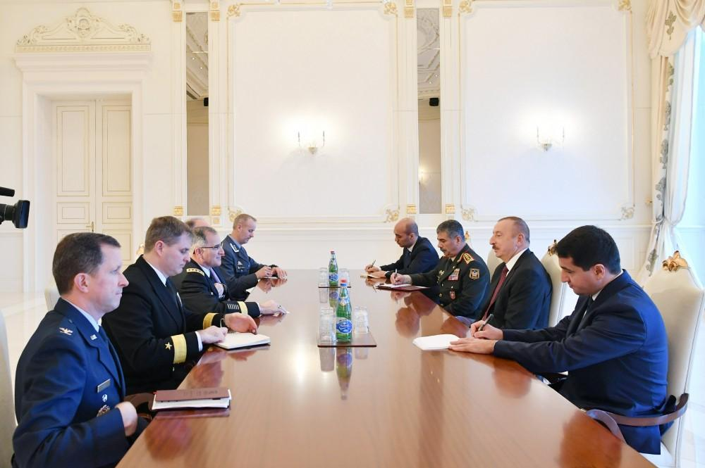 Azerbaijani president receives NATO Supreme Allied Commander Europe (UPDATED)