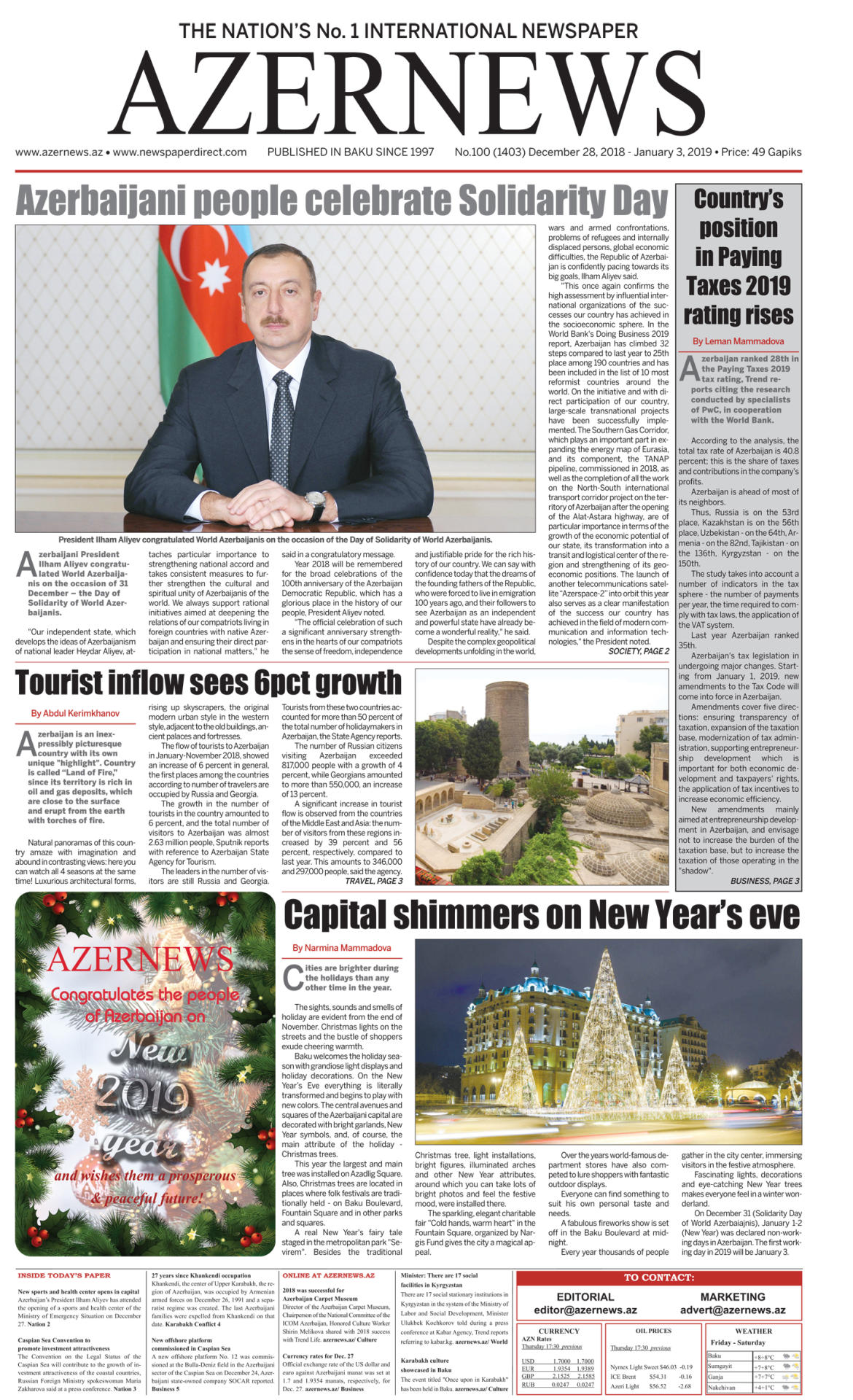 AZERNEWS releases another print issue - Gallery Image