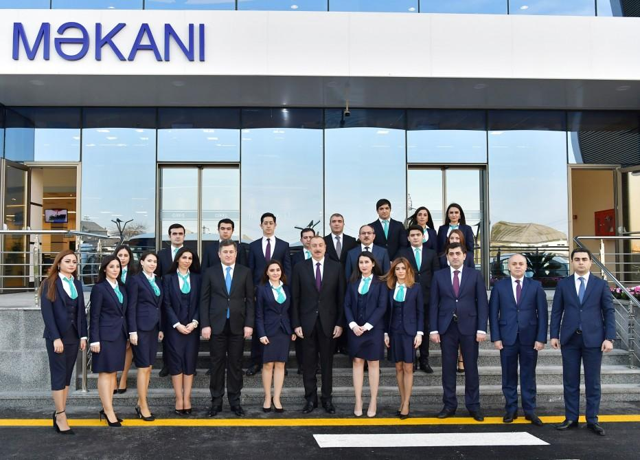 Azerbaijani president inaugurates new residence of real estate services (PHOTO) - Gallery Image