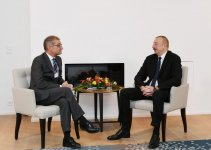 President Aliyev meets Procter&Gamble's president of Europe Selling&Market Operations in Davos (PHOTO) - Gallery Thumbnail