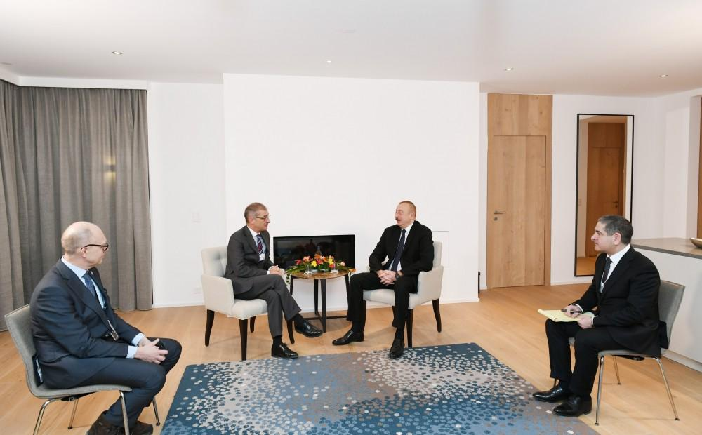 President Aliyev meets Procter&Gamble's president of Europe Selling&Market Operations in Davos (PHOTO) - Gallery Image