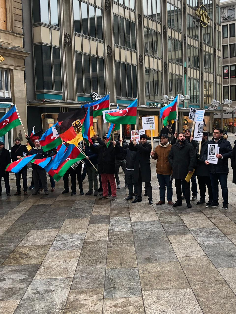 Protest Rally Under Slogan Azerbaijan Wants Peace And Justice Held In Germany Photo
