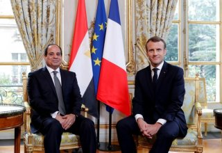 Macron, Sisi agree to enhance cooperation for settling Libyan crisis