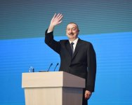 President Aliyev, first lady attend republican conference on Azerbaijani Youth Day (PHOTO) - Gallery Thumbnail