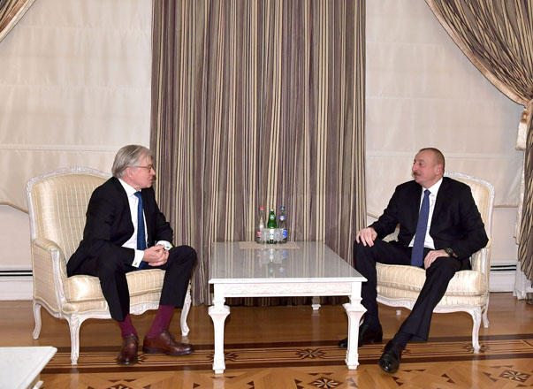 President Aliyev receives chairman of Dutch-Azerbaijan Friendship Group