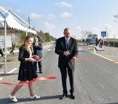 Президент Ильхам Алиев принял участие в открытии автодороги в Бейлаганском районе (ФОТО) - Gallery Thumbnail