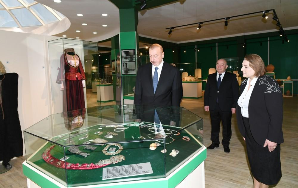 Ilham Aliyev attends opening of History and Local Lore Museum in Beylagan (PHOTO)