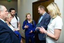 Czech envoy to Azerbaijan meets gymnasts at Trampoline & Tumbling World Cup (PHOTO) - Gallery Thumbnail