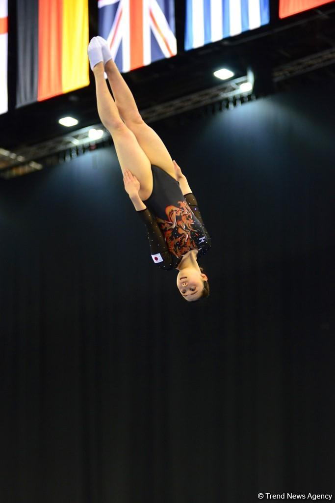 Bakıda batut gimnastikası və tamblinq üzrə Dünya Kubokunda maraqlı anlar (FOTO) - Gallery Image