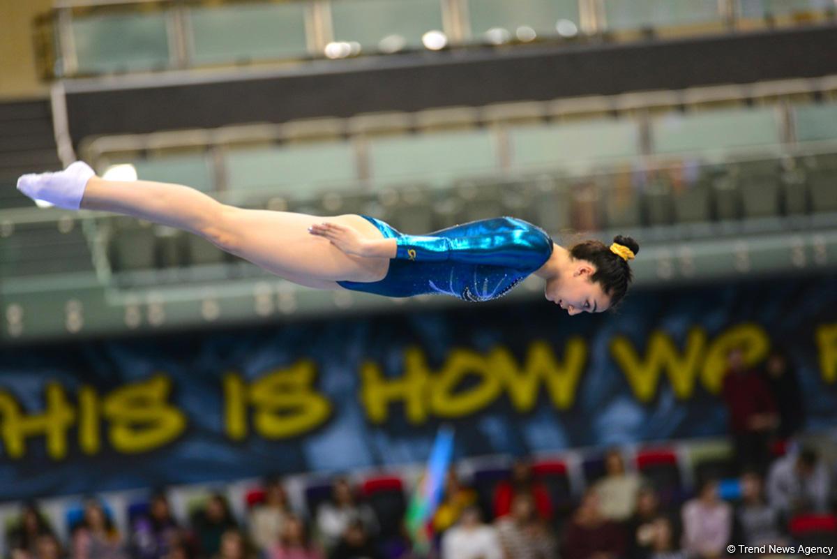 Bakıda batut gimnastikası və tamblinq üzrə ilin ilk Dünya Kuboku keçirilir (FOTO) - Gallery Image
