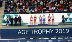 Winners of synchronous trampoline competition as part of World Cup awarded in Baku (PHOTO) - Gallery Thumbnail
