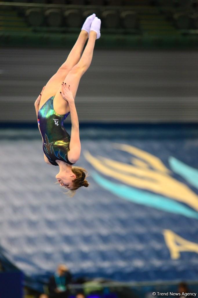 Bakıda batut gimnastikası və tamblinq üzrə Dünya Kubokunda ikinci yarış günü (FOTO) - Gallery Image