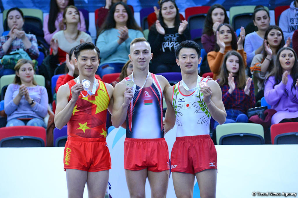 Winners of individual trampoline program as part of World Cup awarded in Baku (PHOTO)