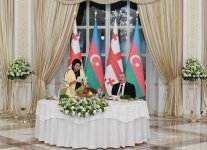 President Aliyev hosts official reception in honor of President of Georgia - Gallery Thumbnail