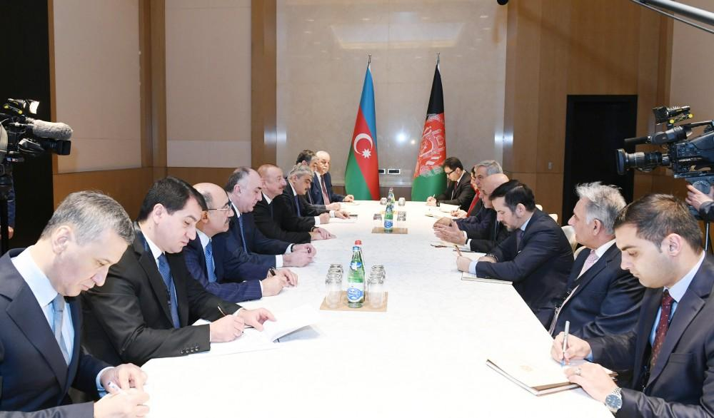 Azerbaijani president meets with Afghan counterpart (PHOTO)