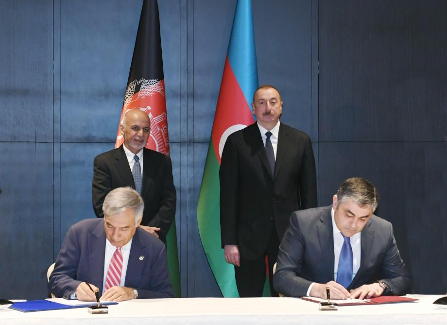 Azerbaijani president meets with Afghan counterpart (PHOTO) - Gallery Image