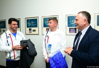 Israeli envoy: I am very proud that Israeli gymnast won gold medal at World Cup in Baku (PHOTO)