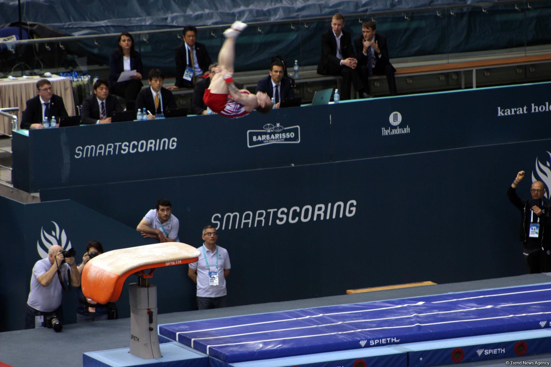 Стартовал последний день соревнований Кубка мира по спортивной гимнастике в Баку (ФОТО) - Gallery Image
