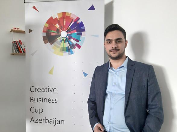 """Azərbaycanlı gəncin layihəsi """"Creative Business Cup 2019"""" yarışmasında 168 layihə arasından seçildi"""