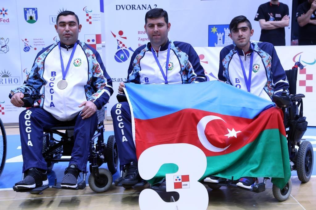 Azərbaycanın boccia üzrə paralimpiya yığması beynəlxalq yarışda bürünc medala layiq görülüb (FOTO) - Gallery Image