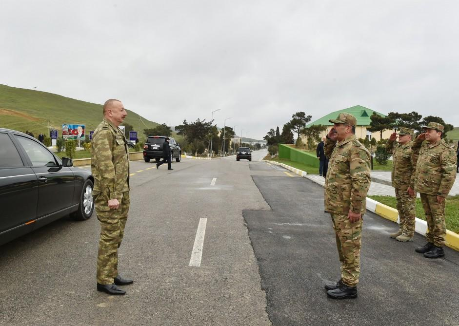President Ilham Aliyev visits military unit of Special Forces of Defense Ministry (PHOTO)