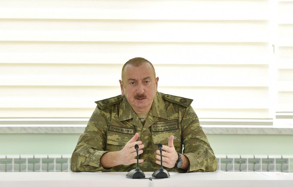 Azerbaijan's president: We are doing and will continue to do everything necessary for our army