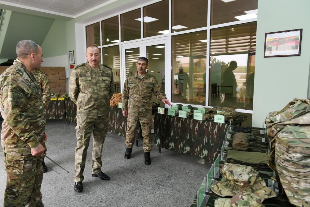 President Ilham Aliyev visits military unit of Special Forces of Defense Ministry (PHOTO) - Gallery Image