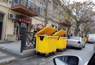 Bakıda daha iki rəngdə tullantı konteynerləri olacaq (FOTO)