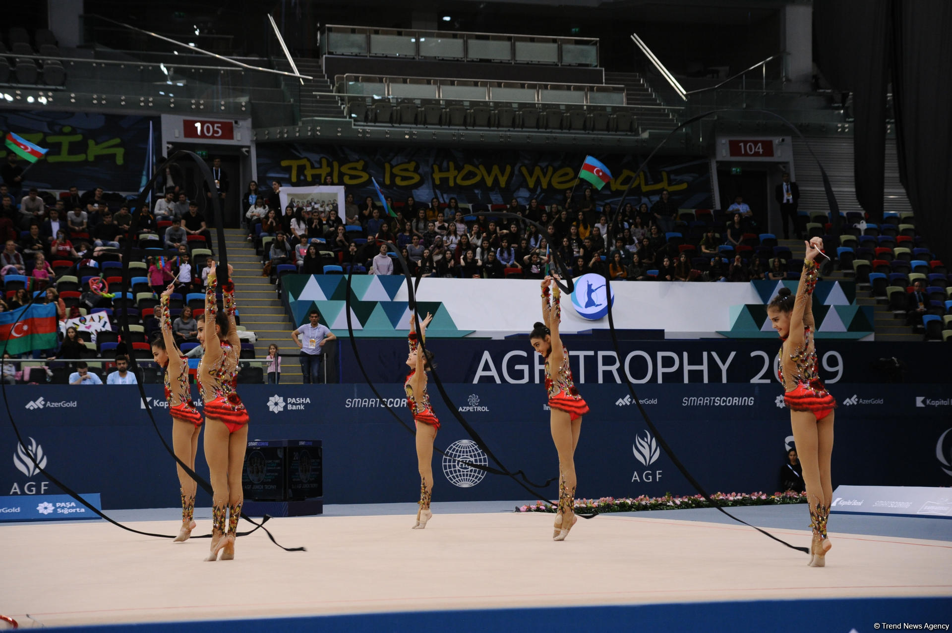Azerbaijani team grabs gold in group exercises with five hoops at AGF Junior Trophy