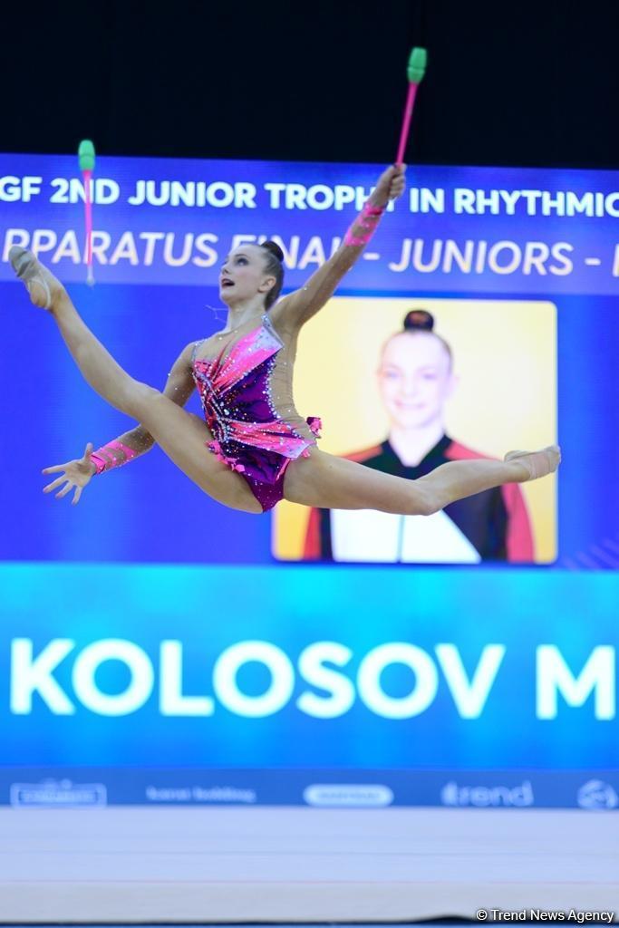 В Баку продолжаются финальные соревнования Международного турнира по художественной гимнастике AGF Junior Trophy (ФОТОРЕПОРТАЖ)