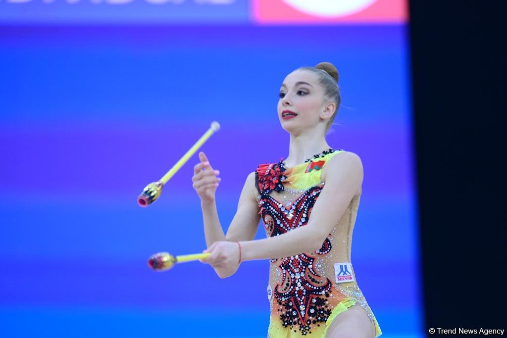 В Баку продолжаются финальные соревнования Международного турнира по художественной гимнастике AGF Junior Trophy (ФОТОРЕПОРТАЖ) - Gallery Image