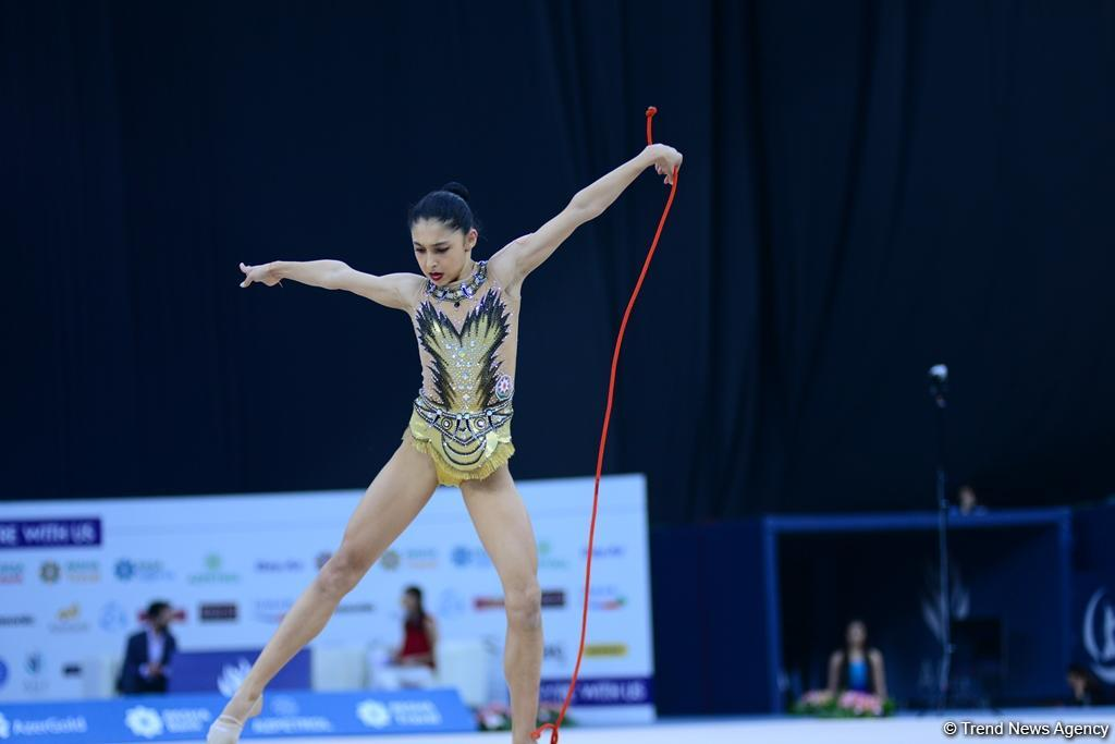 Second day of AGF 2nd Junior Trophy in Rhythmic Gymnastics tournament kicks off in Baku (PHOTO)