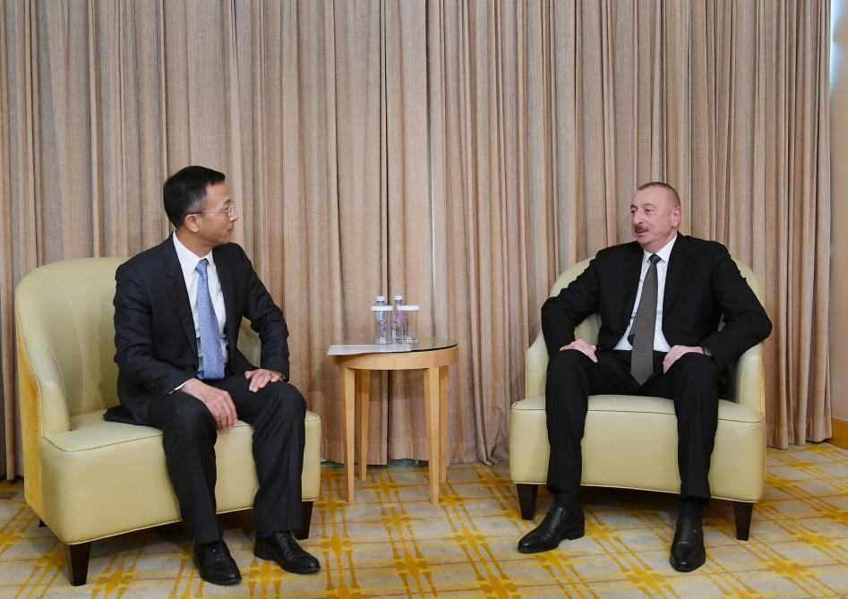 President Ilham Aliyev meets president of China National Electric Engineering (PHOTO)