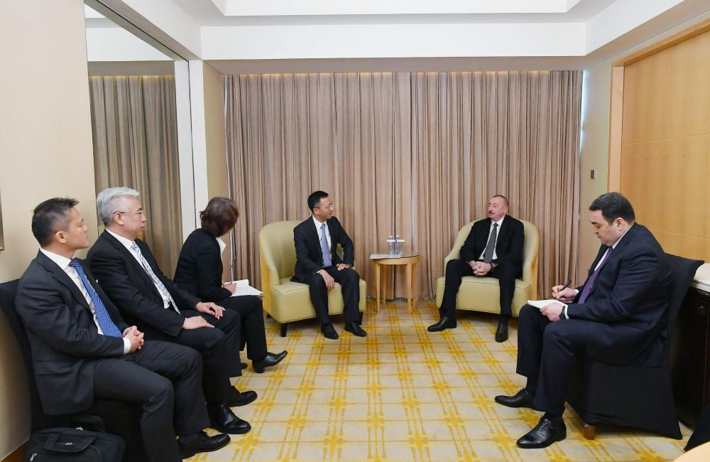 President Ilham Aliyev meets president of China National Electric Engineering (PHOTO) - Gallery Image