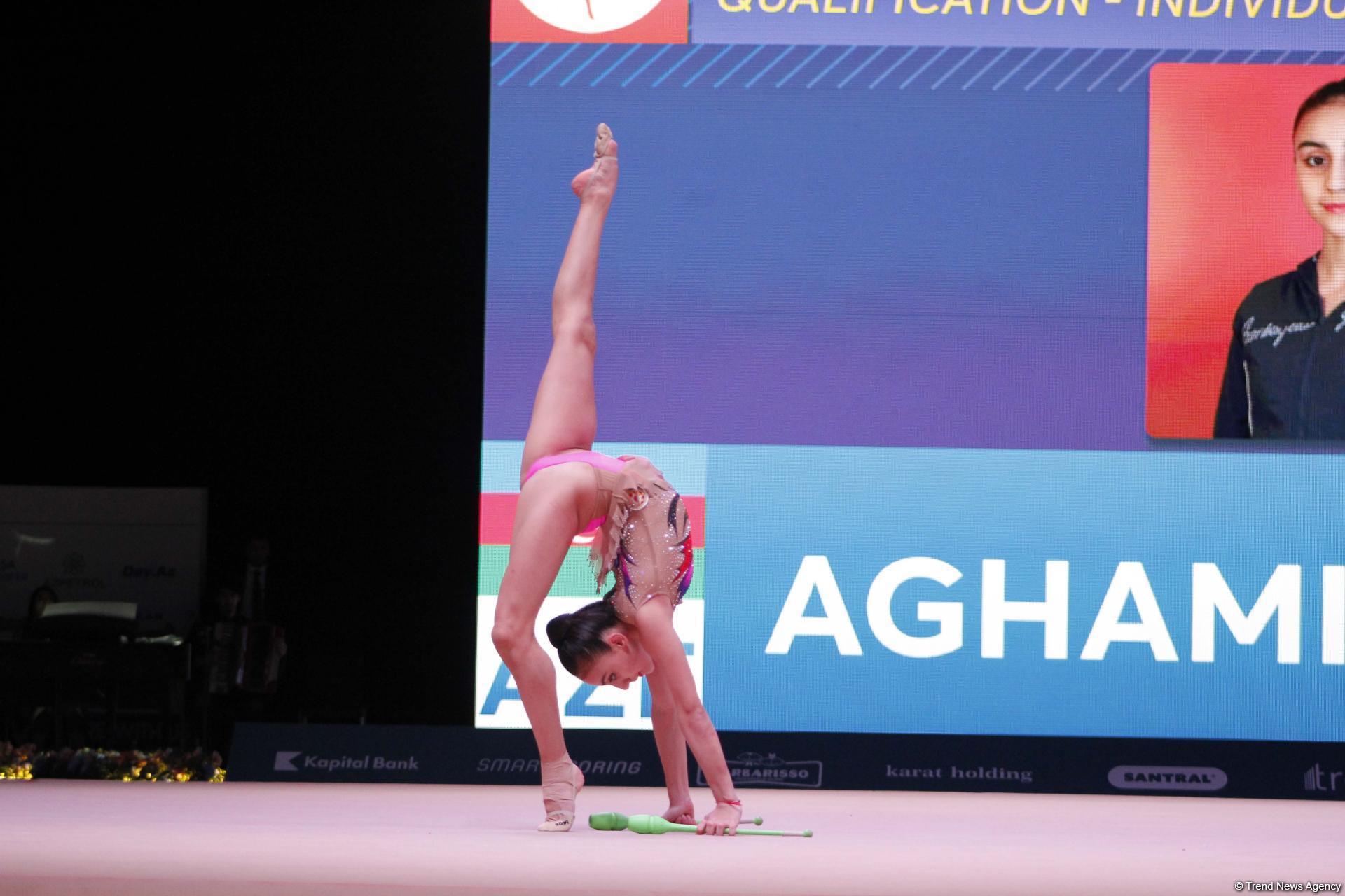 Лучшие моменты второго дня соревнований Кубка мира по художественной гимнастике в Баку (ФОТО) - Gallery Image