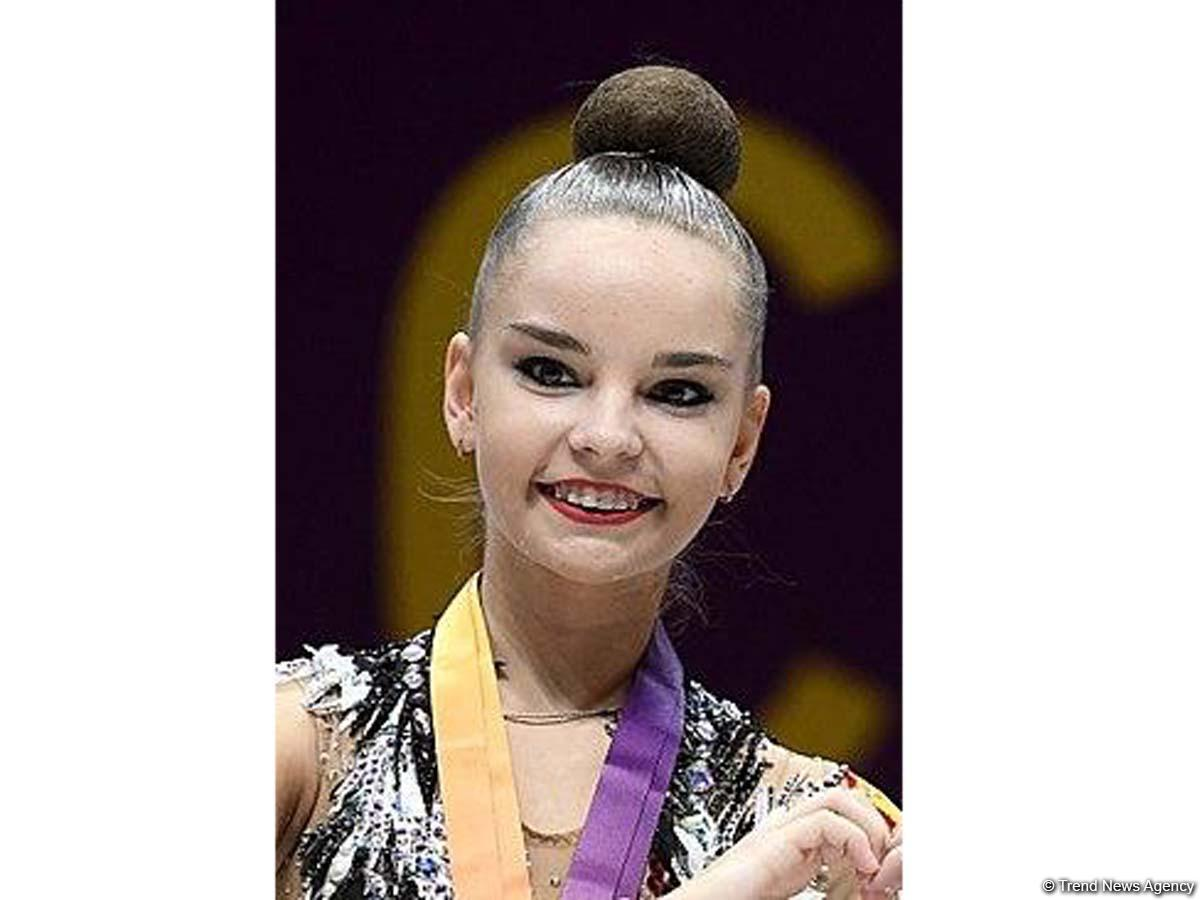Dina Averina becomes first at 37th World Championships in Baku in exercise with ribbon