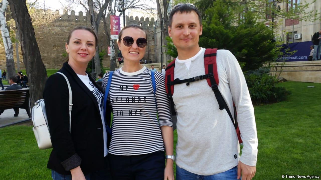 Foreign tourists delighted with Baku and Formula 1 SOCAR Azerbaijan Grand Prix 2019 (PHOTO)