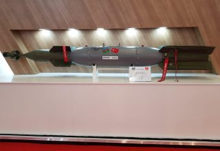Azerbaijan demonstrates QFAB-250 LG air bomb at exhibition in Istanbul for first time