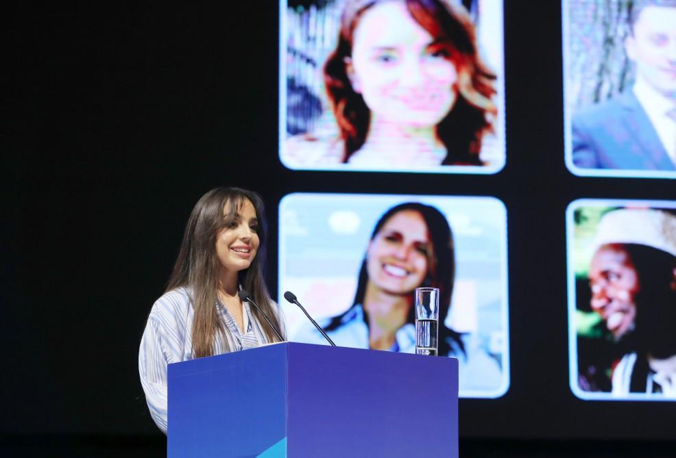 Vice-President of Heydar Aliyev Foundation Leyla Aliyeva attends plenary session of 5th World Forum on Intercultural Dialogue (PHOTO)