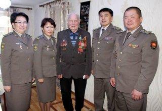 В Кыргызстане военнослужащие нацгвардии посетили Ветеранов Великой Отечественной Войны