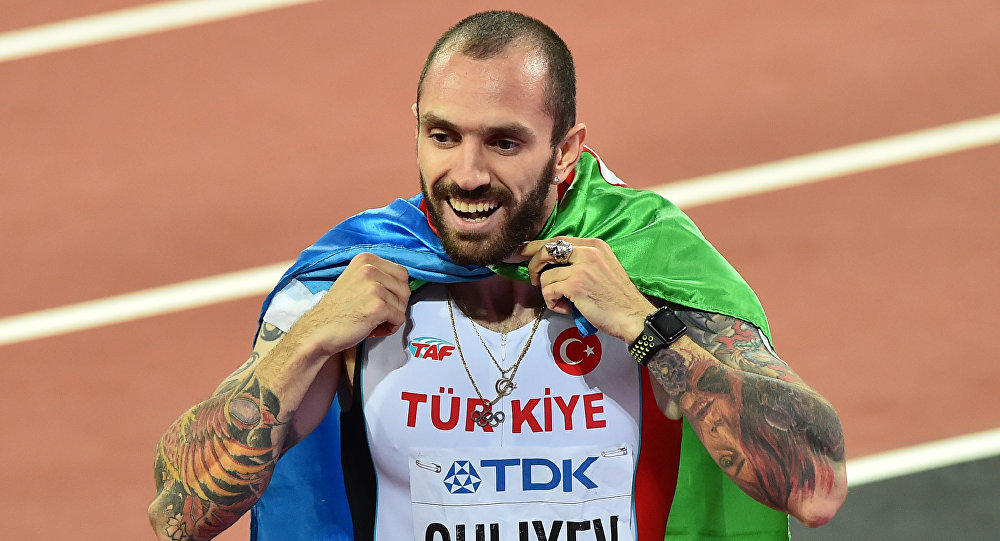 Azerbaijani athlete becomes best sprinter in men's 200m race