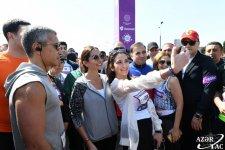 """Bakı Media Mərkəzinin prezidenti Arzu Əliyeva """"Bakı Marafonu 2019""""da iştirak edib (FOTO) (YENİLƏNİB) - Gallery Thumbnail"""