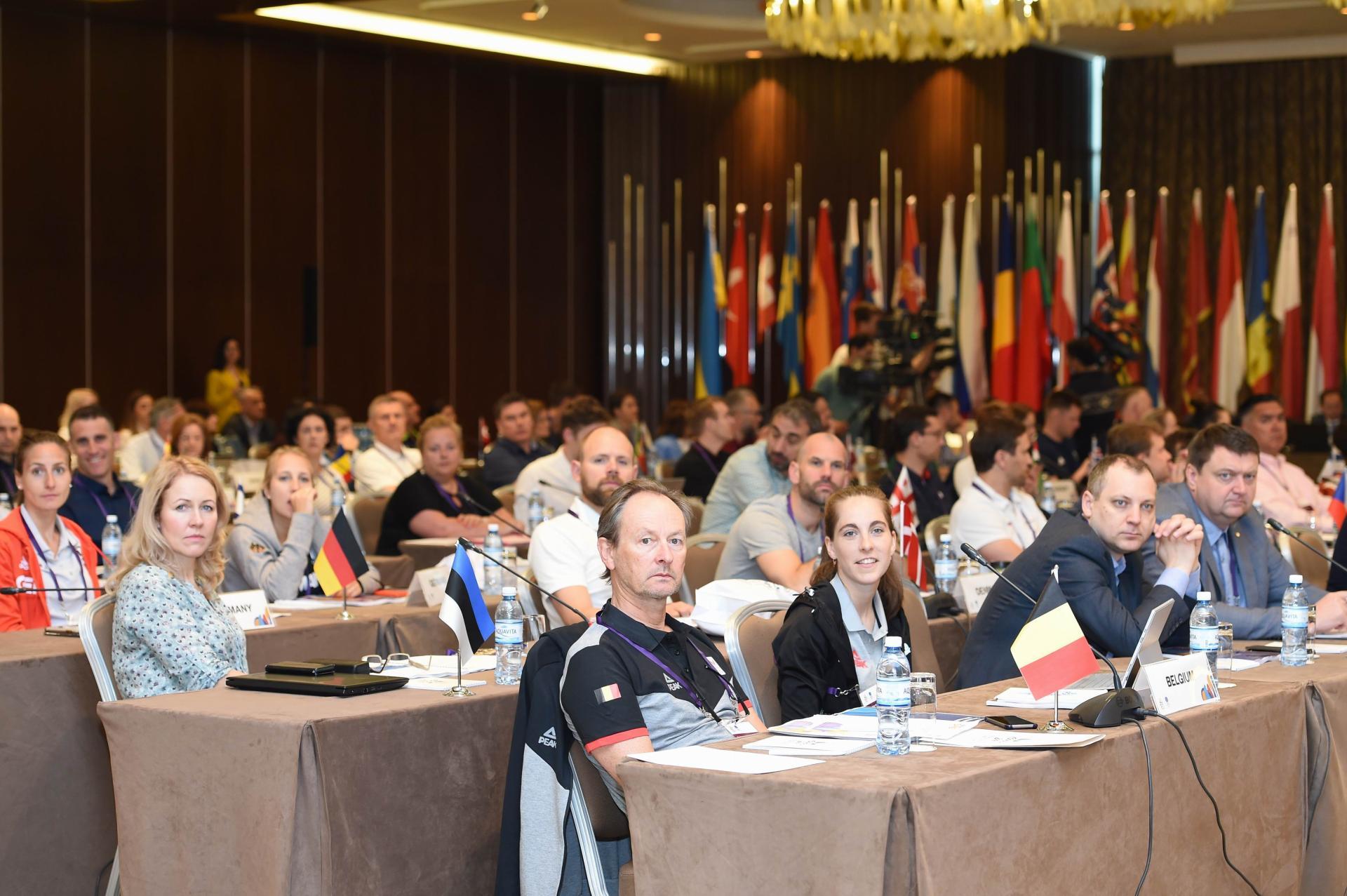 Bakıda Avropa Gənclər Yay Olimpiya Festivalı ilə bağlı seminar keçirilib (FOTO) - Gallery Image